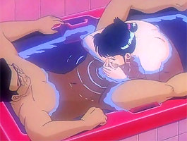 Hot hentai girl sucking cock in bathtub and getting fucked